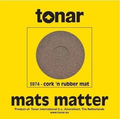 Tonar Pure Cork end Rubber turntable mat
